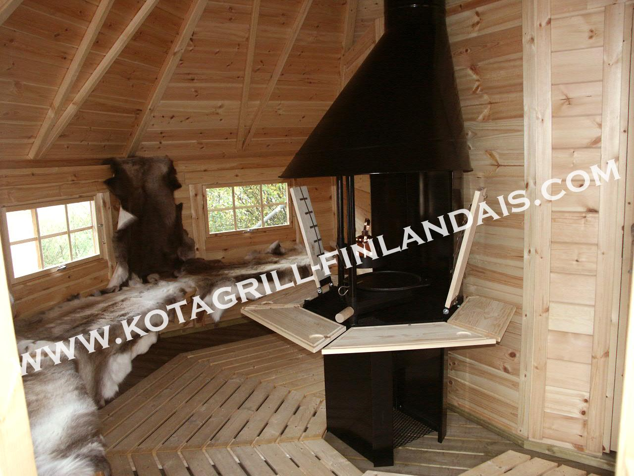 Construire Un Sauna Finlandais kota mixte sauna/grill